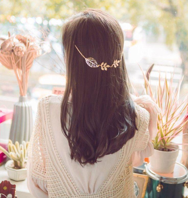 Gold Leaf Floral Hair Clip – The Boho Boutique