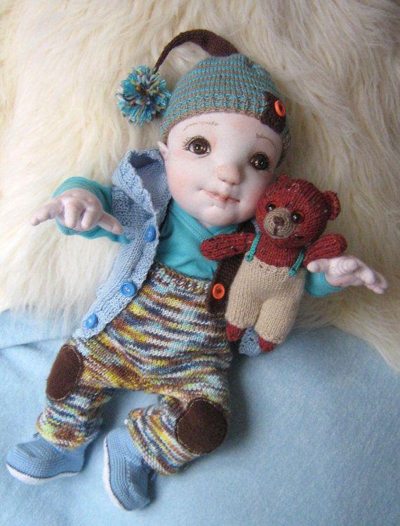 Soft Sculptured Doll  Waldorf Doll Boy Boll by MaryUniqueDoll