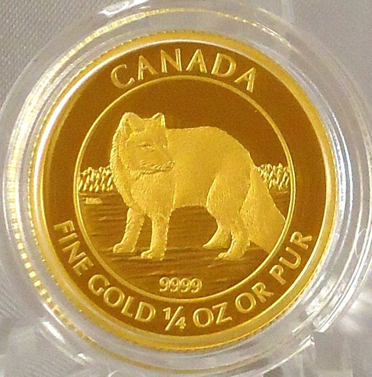 Canada 2014 Arctic Fox 99.99% Pure Gold $10 Proof Numismatic Coin Mintage: 2,000