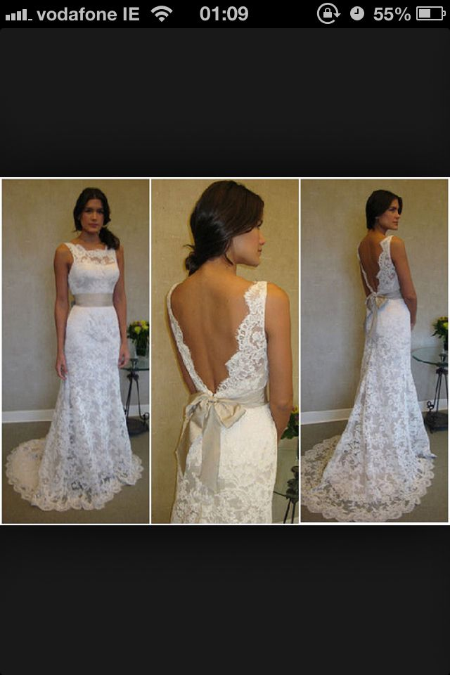 Wedding dress lace love the back. I would change the front