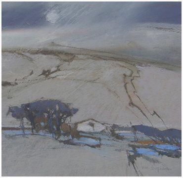 Dusk on Dales Farm - Norma Stephenson - pastel artist