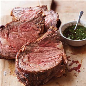 Standing Rib Roast with Herbed Jus | meat dishes | Pinterest