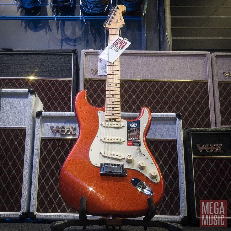 Fender American Elite Stratocaster in Autumn Blaze Metallic is so awesome they pretty much gave it its own emoji  #fender #fenderguitar #americanelite #strat #stratocaster #fenderstrat #fenderstratocaster #fenderguitars #guitar #electricguitar #fenderamericanelite #fenderamericanelitestratocaster #vox #voxamp #voxamps #voxamplification #voxamplifiers #megamusic #megamusicmyaree