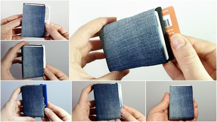 Denim Wallet Made from Recycled Jeans, Minimalist Wallet, Mens Wallet, Womens Wallet, RFID Wallet - Limited Edition Unique Minimalist Wallet by NeroWallet on Etsy