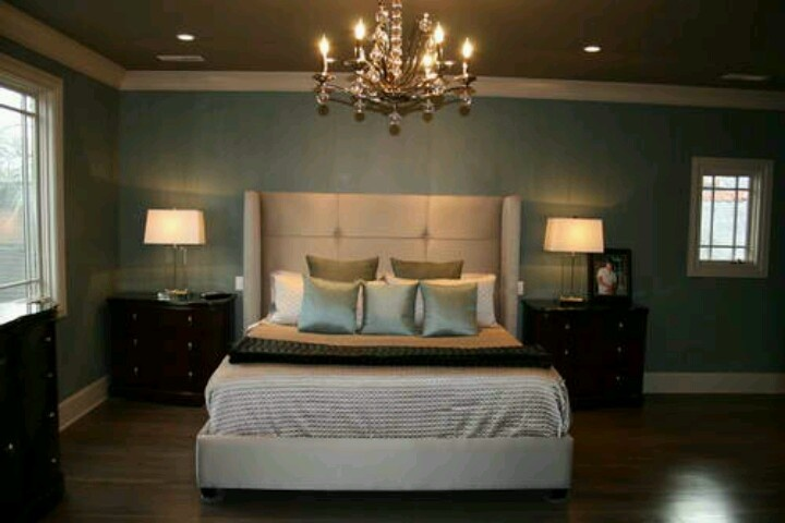 Teal Master Bedroom Love The Chandelier Redecorating Pinterest