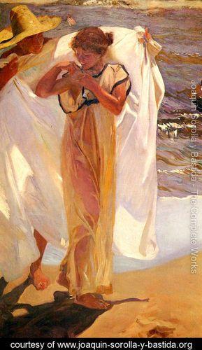 Saliendo del bano (Leaving the Bath)    Joaquin Sorolla y Bastida