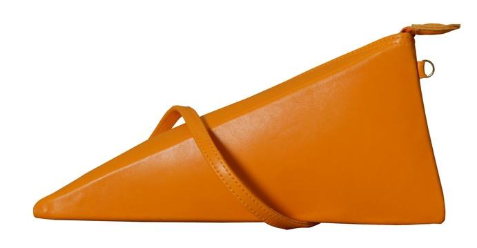 Trinity - orange leather - Biskup Handbags