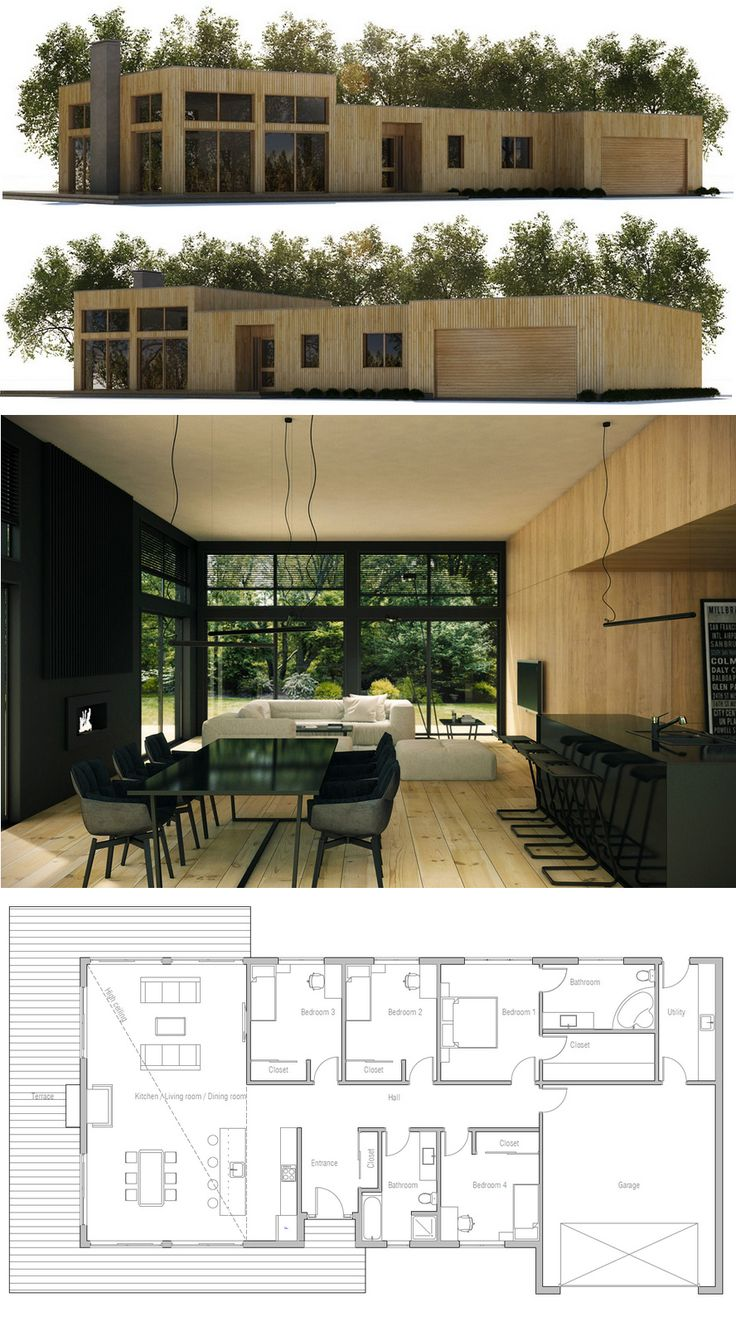 Modern One Story House Plan With Lots Of Natural Light: 189 Best Images About Home Plans, Single Story On