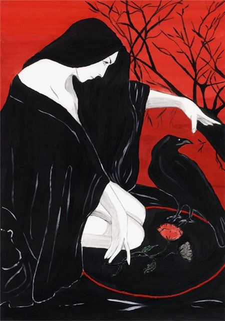Witch and Raven. art print. | witches