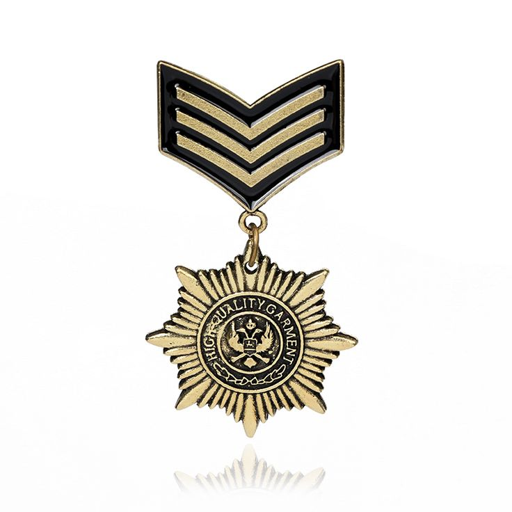 2016 Gothic Bronze Military Medal Brooches Pins for Men Military Pins And Badges suit Accessories 3705