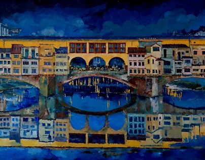"""Check out new work on my @Behance portfolio: """"Florence. Ponte Vecchio"""" http://be.net/gallery/48238415/Florence-Ponte-Vecchio"""