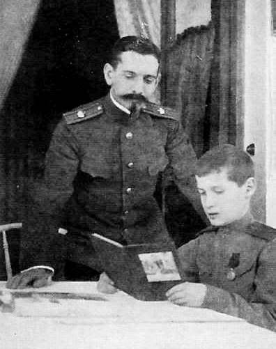 French Tutor Pierre Gilliard and Tsarevich Alexei