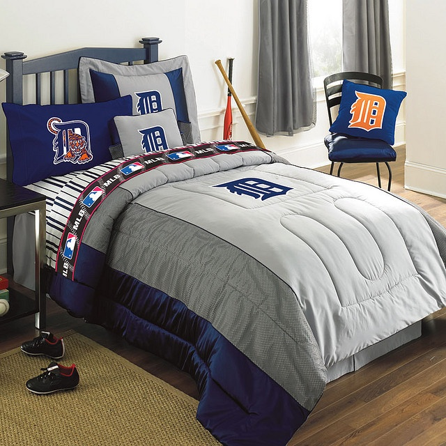 Detroit Tigers MLB Authentic Team Jersey Bedding Twin Size Comforter Sheet Set By Familybedding