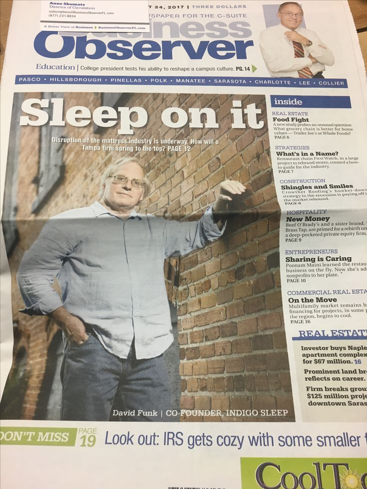 Would you look at that- David Funk, co-founder of Indigo Sleep and a member here at CoWorkTampa, on the front page of the newspaper! We love seeing all our members accomplish great things! 💪🏼 #cowork #coworking #tampa #tampabay #tpa