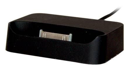 iPhone 3GS/3G Black Docking Station..  The iPhone docking station facilitates iPhone 3GS/3G and iPod charging and the synchronization of data with iTunes. It has a 3.5mm line out, allowing easy speaker connection, and includes a USB charging and data synchronization cable.