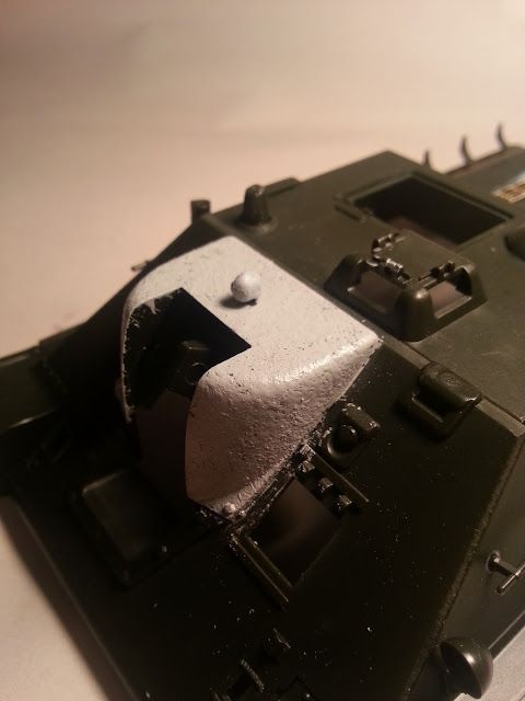 How to make a cast metal texture on plastic models - gun mantlets and tank turret texture