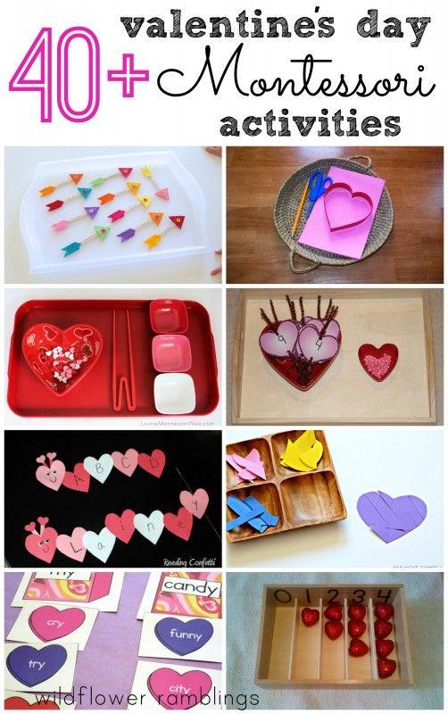 Montessori Valentine's Day Activities - Wildflower Ramblings