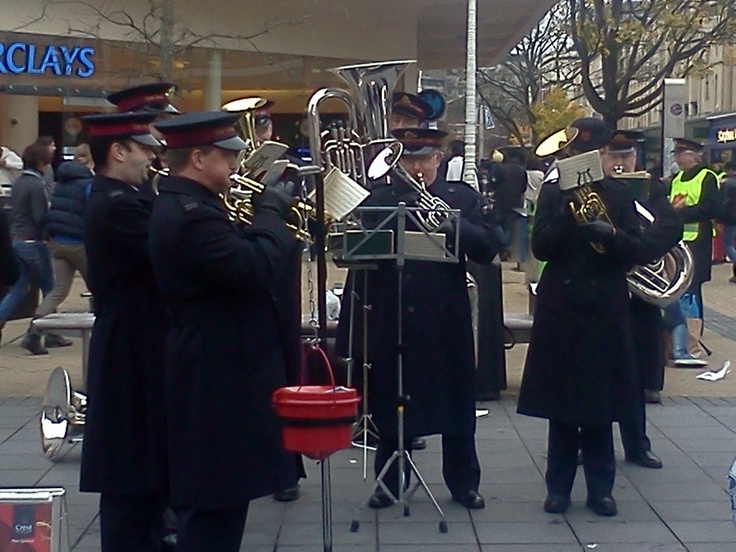 Salvation Army band. Played every Sunday outside my house!