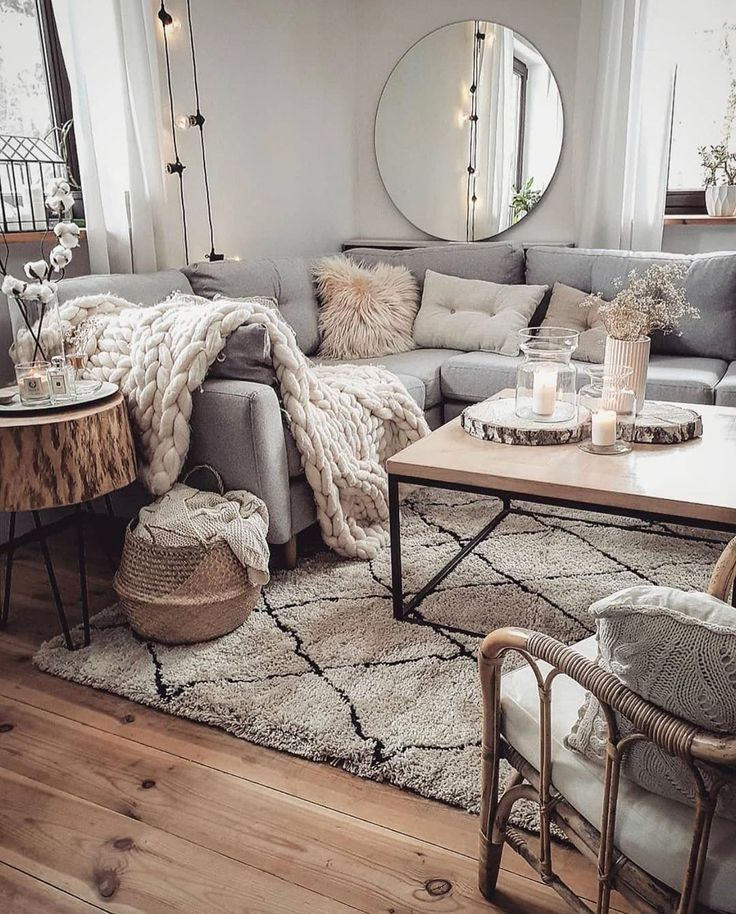Cozy neutral living room in 2020 | Living room decor cozy ...