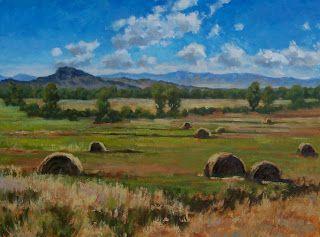 Hay Bales, artist Susan Bell