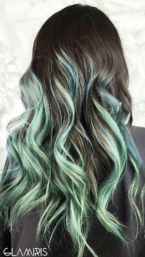 Mint Green Ombre Hair Www Pixshark Com Images
