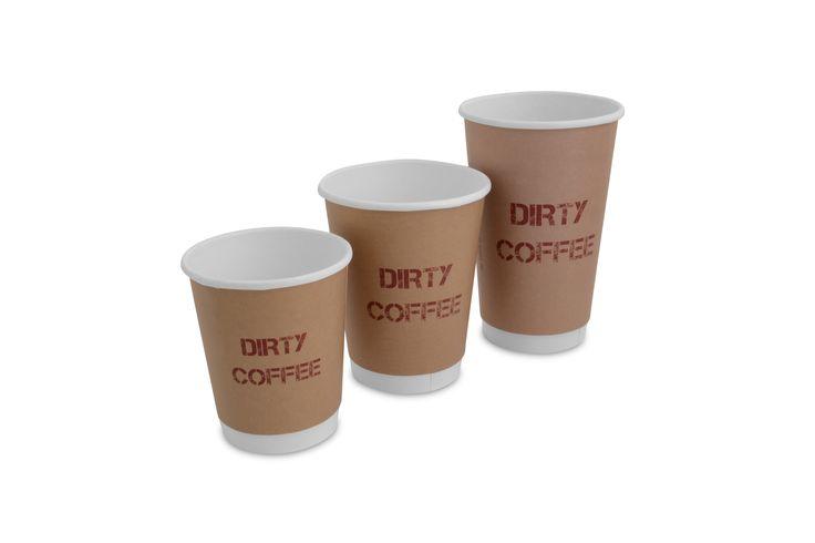 Custom printed compostable coffee cups