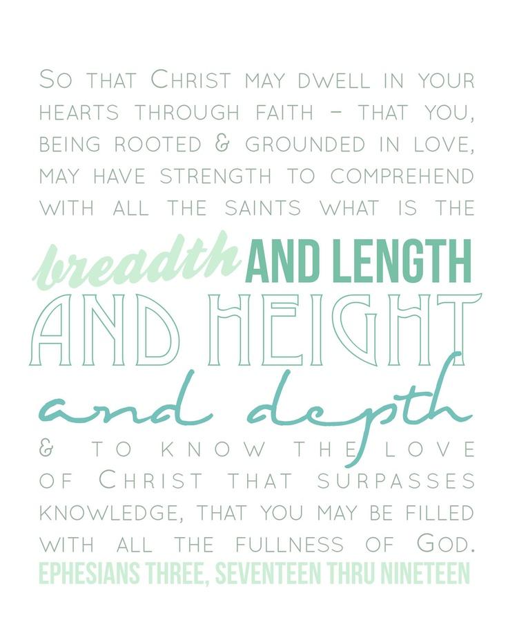 Ephesians 3:16-19 8x10 print
