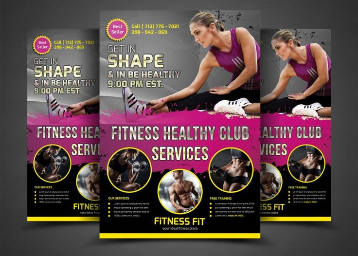 Fitness Flyers Templates Eczalinf