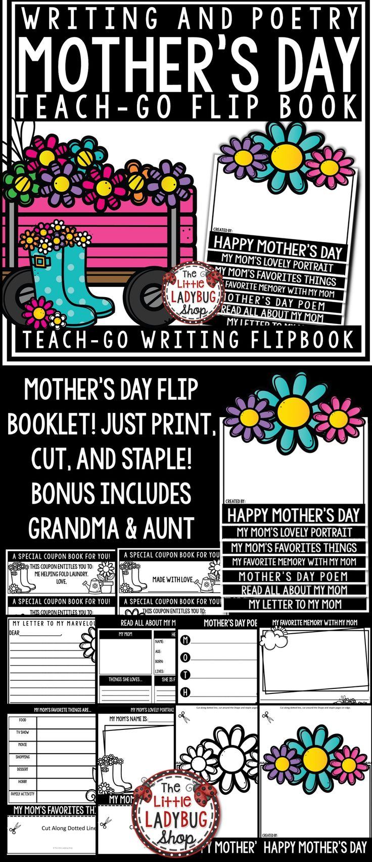 mothers day flip book - 736×1703