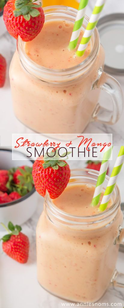 My smooth, creamy and utterly scrumptious Strawberry and Mango Smoothie is the perfect Summer refreshment. And, you only need 4 ingredients!