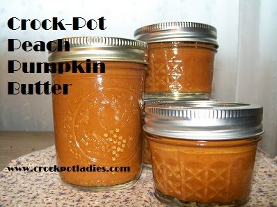 Crock-Pot Peach Pumpkin Butter - CrockPotLadies.com