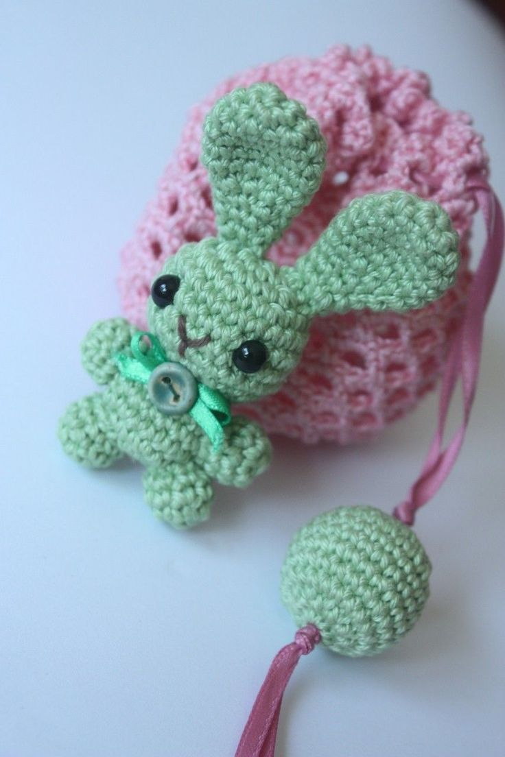 Crochet Animal Bag Free Pattern : 284 best images about Crochet - Sachets, Gift Bags, etc on ...