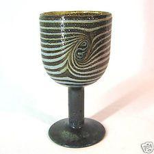 Nuutajärvi Nötsjö Art Glass Goblet Oiva Toikka Design
