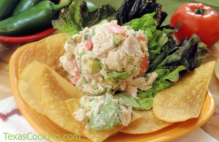 Cinco de Mayo Chicken Salad: A creamy, savory southwestern take on chicken salad; recipe from Grandma's Cookbook of kitchen-tested recipes.