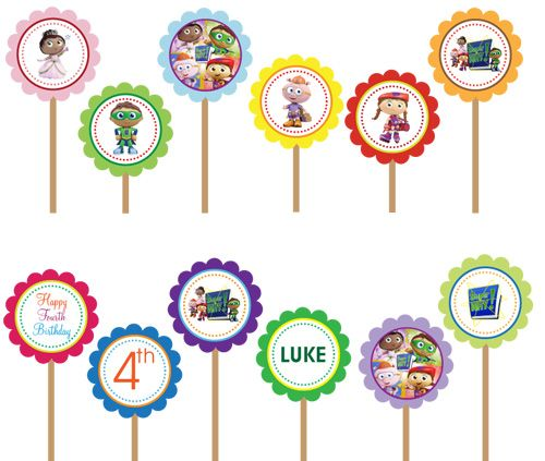 Super Why - Printable DIY Party Circle Cupcake Toppers
