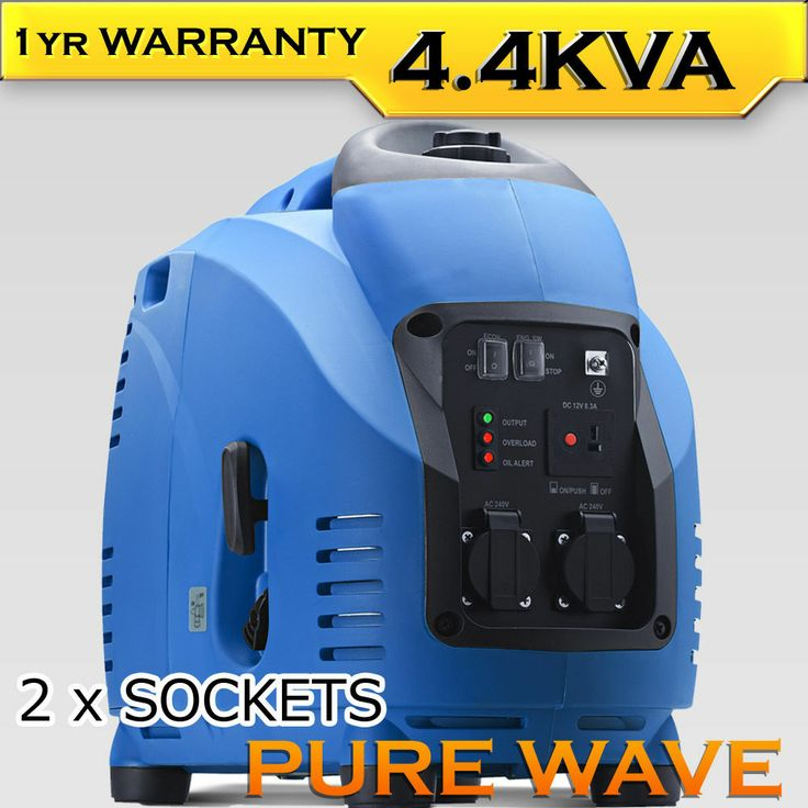 New GenTrax 4.4Kva Puresine Inverter Generator Silent Portable Petrol Camping