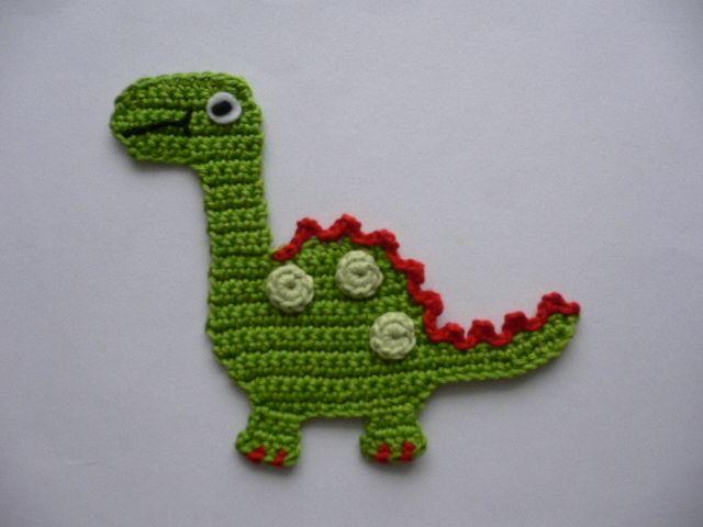 Dino - Häkelapplikation von Spielkiste auf DaWanda.com