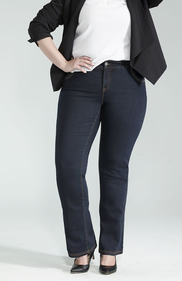 Slight Boot Cut Jean / Jean Jambe Semi-Évasée #ReitmansJeans #Jeans #Bleu #Blue #BlueJeans #Style #PlusSize Plus #TaillePlus #Plus