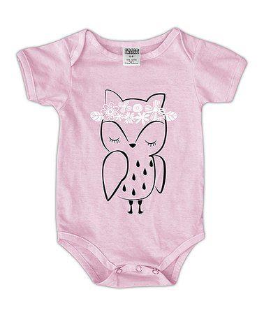 Loving this Pink Flower Crown Owl Bodysuit - Infant on #zulily! #zulilyfinds