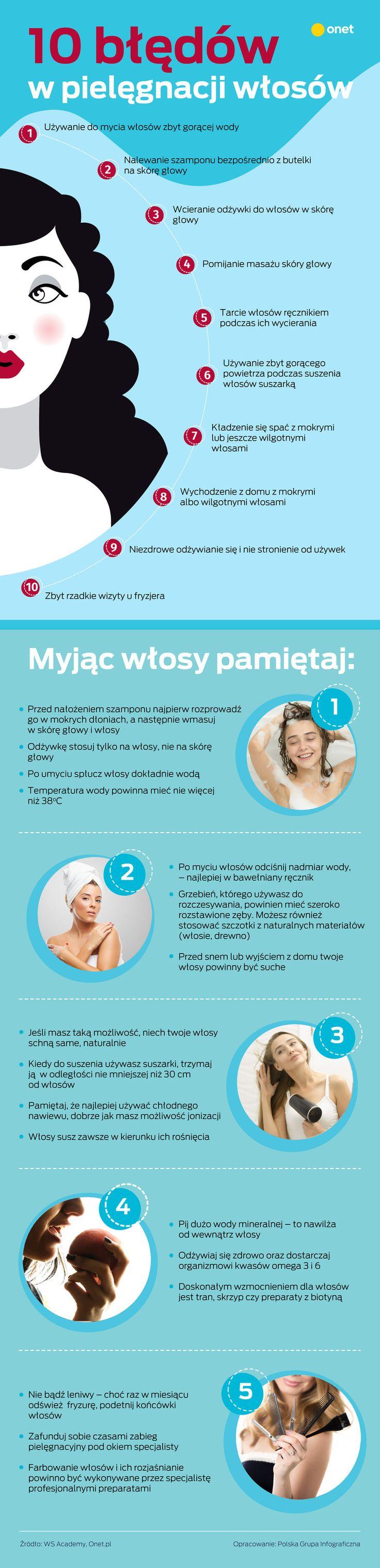 Pielęgnacja włosów - 10 najczęstszych błędów, które zapewne popełniasz - Uroda