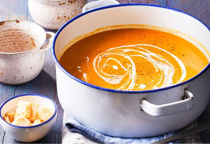 Everyone enjoys pumpkin soup - this one comes with a Moroccan twist.