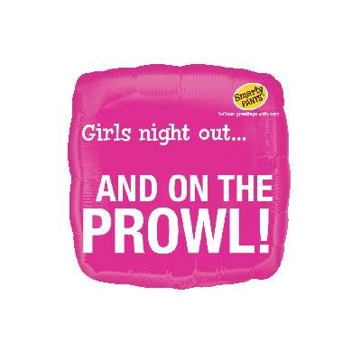 Girls Night Out On The Prowl Foil Balloon.-  $7.95 See more at http://myhensparty.com.au/