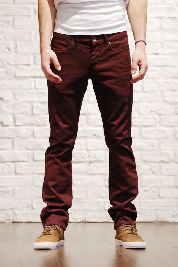 48 best All Shades of Red, burgundy and mahogany pants Outfits for ...