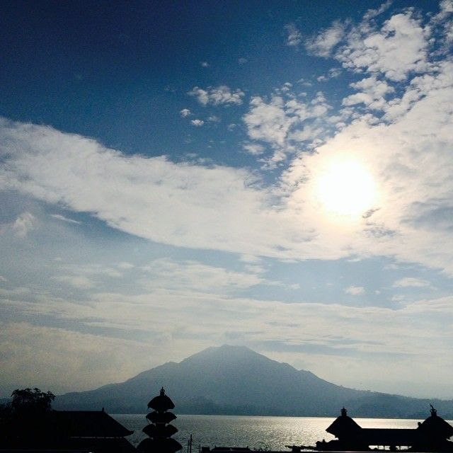 Mount Batur in #bali. #sky #blue #lac #landscape #nature #amazing