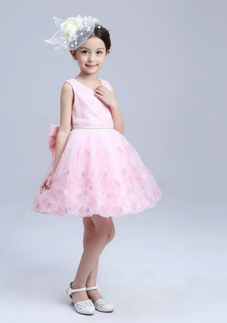 vestido princesa  Perfecto para fiestas, boda, cumpleaños o otras ocaciones especiales Vestido con lentejuelas encaje + lentejuela + algodón +malla Cierre: cremallera