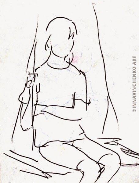 My lovely sister #sketch http://vinchenko.blogspot.com/2014/08/when-started-my-love-for-sketching.html