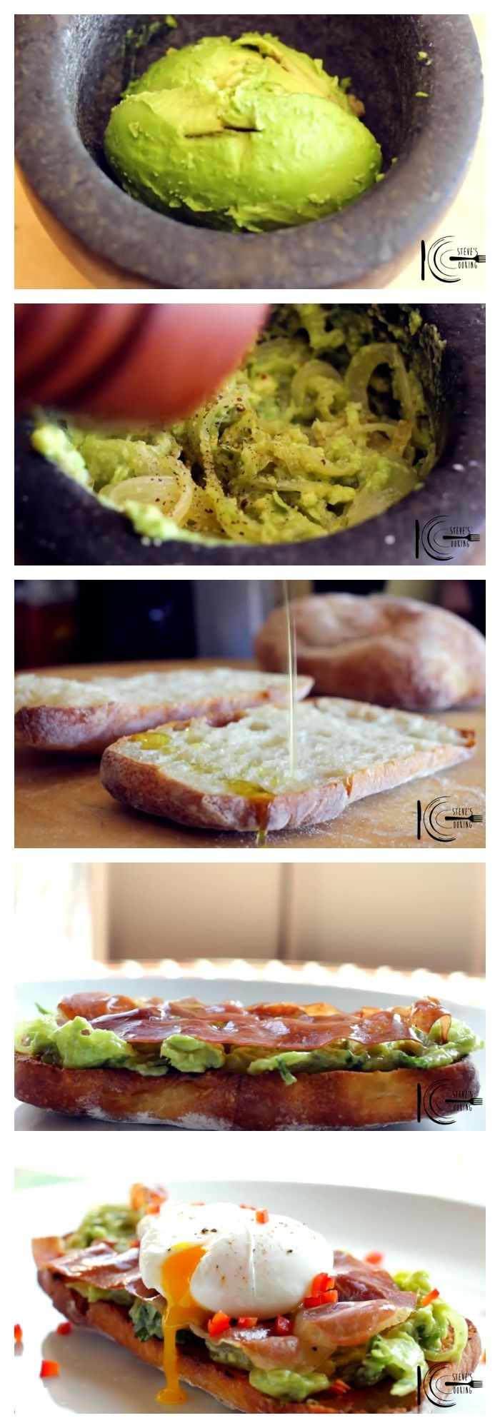 #Avocado Smash, #Prosciutto And Poached #Eggs On Toast