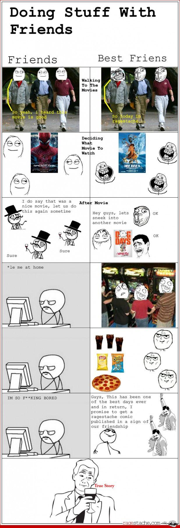 Doing stuff with friends vs best friends
