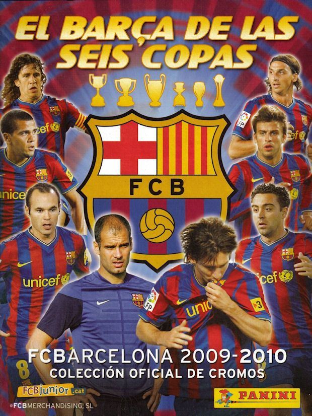 FC Barcelona sticker album for 2009-10.