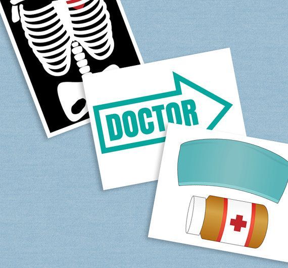 Medical Party props, diy photo booth printables for your party. Just purchase the digital file to print and cut out at home. --------------------------------------------------------------------------------------------------- - - - LISTING INCLUDES - - - 1. 35 x Printable Props 2.